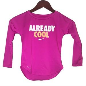 🆕 Nike Dri-Fit Pink Long Sleeve Tee